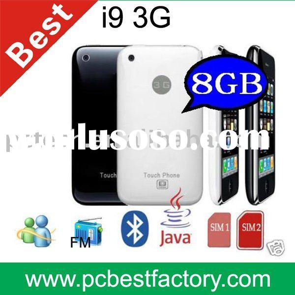 Mobile phone I9 3G support 8GB memory card, java, camera,fm