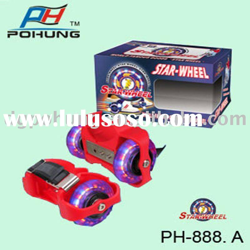 PH888-A Pohung New PU Wheels Roller Skate Star Wheel  Heel Skate Flashing Roller Skate