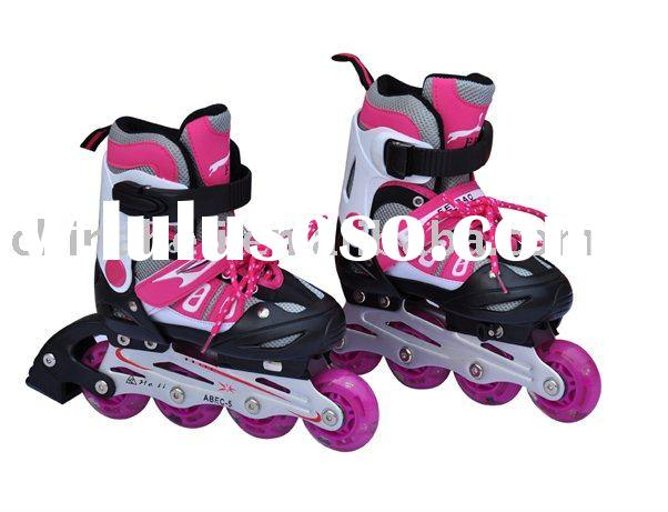 kids adjustable inline skate flash roller (all the wheels with flash)