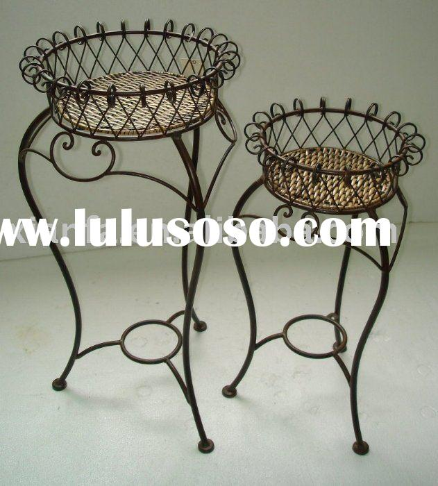 metal & rattan home & garden decoration - XF57363- Plant stand