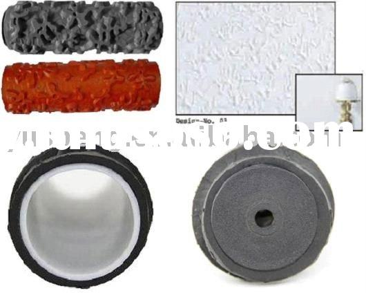 rubber pattern decorative paint roller brush cover