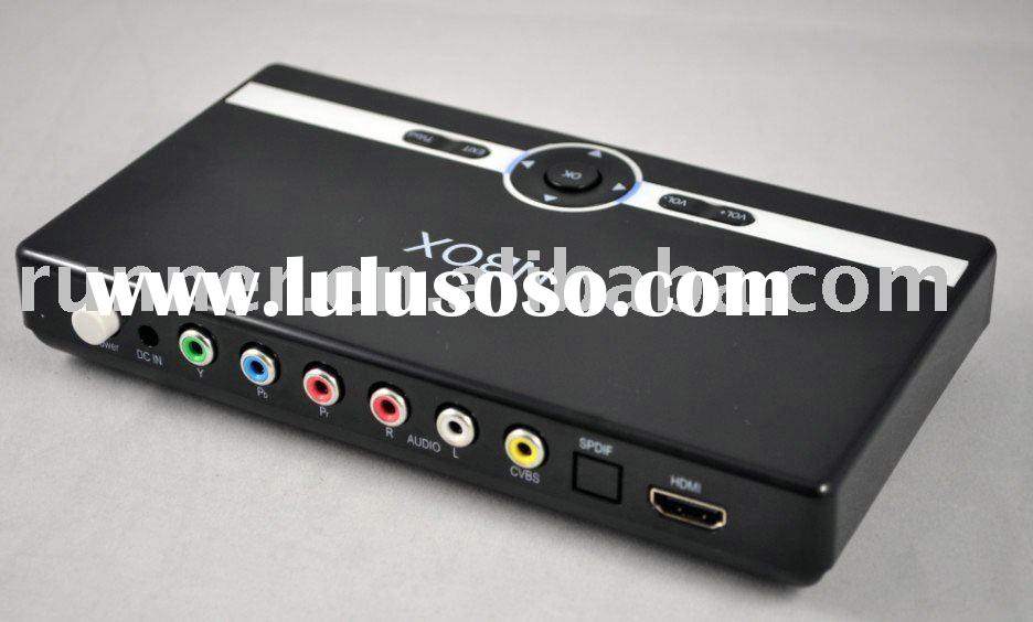 HDD media player box home device, play MKV FLV AVI RMVB video files in external USB and SD