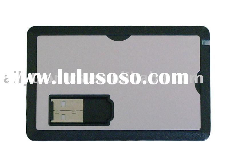 Metal surface Credit card USB memory drive