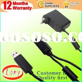 Power Supply Adapter Cable for Xbox 360 Kinect Sensor Ucensed for KI-NECT For XBOX360 free shipping