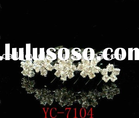 hair accessories  /  wedding hair comb / flower wedding accessories( YC-7104 )