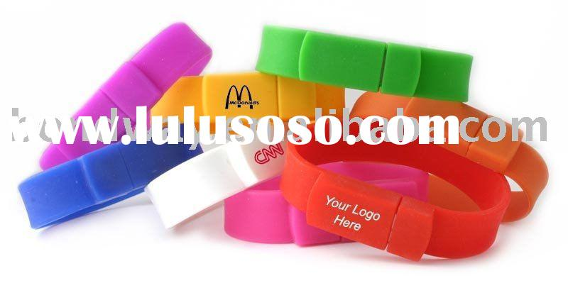 promotional gift wristband usb flash memory