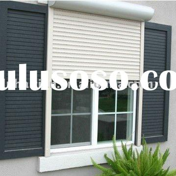 windows with roller shutter