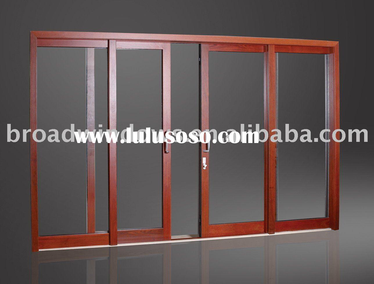 Thermal Break Wood Clad Aluminum Sliding Door and Aluminium Door(D130)