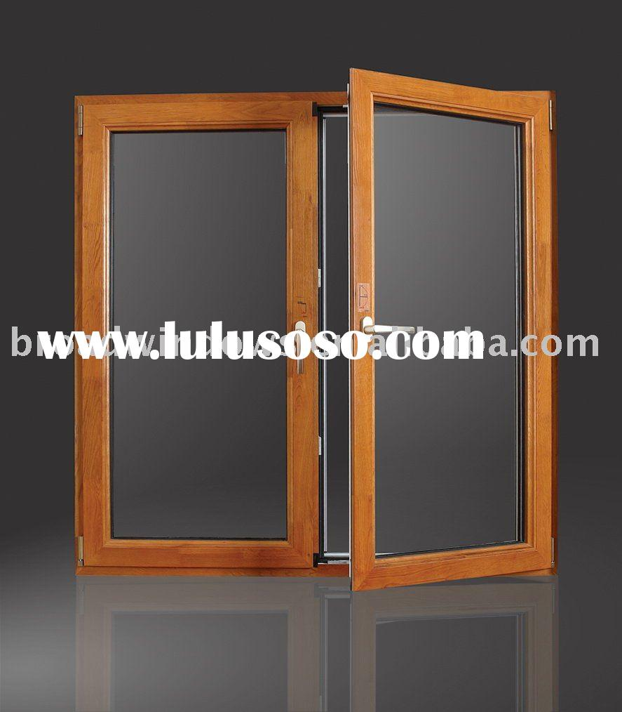 Wood Clad Thermal Break Aluminum Casement Window/Aluminium Window(W67)