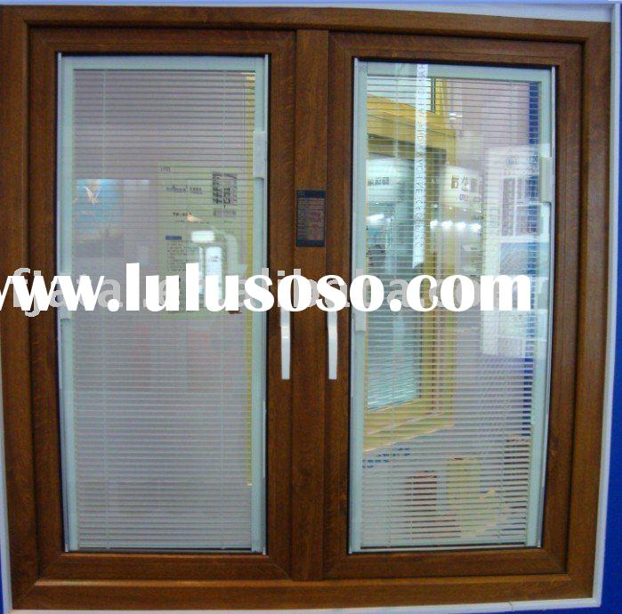 Upvc grille casement windows swing and hinged windows top for Best price wood windows