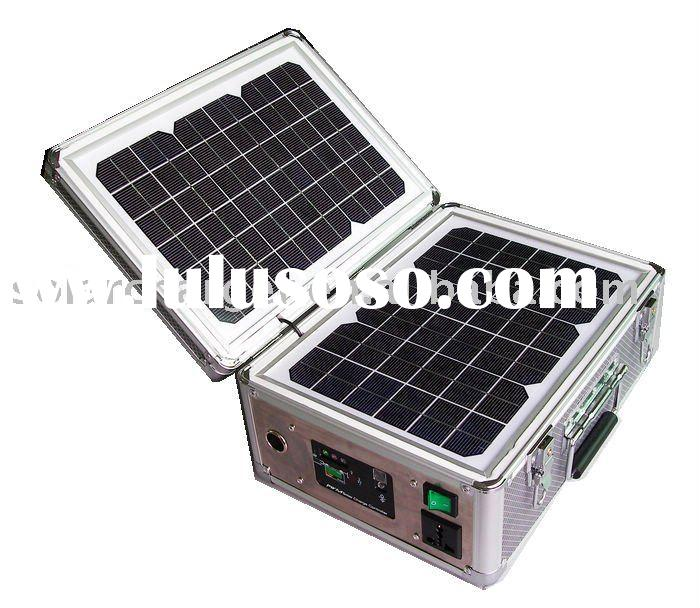 20W Solar System with Build-in Solar Panels