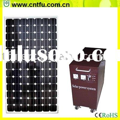Portable solar panel system for home