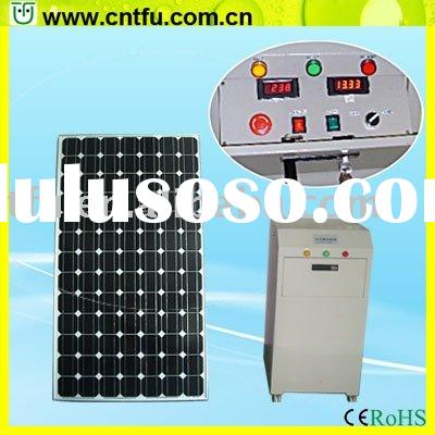 Portable solar panel system home