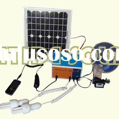 portable 10W solar home system with light and mobile charger