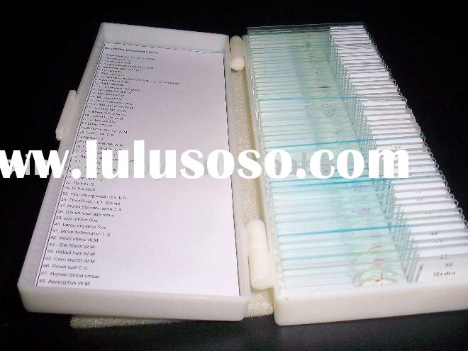 50 pcs prepared slide set zoology and histology