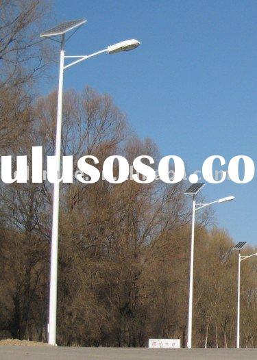 8m light pole with 60W solar street light system