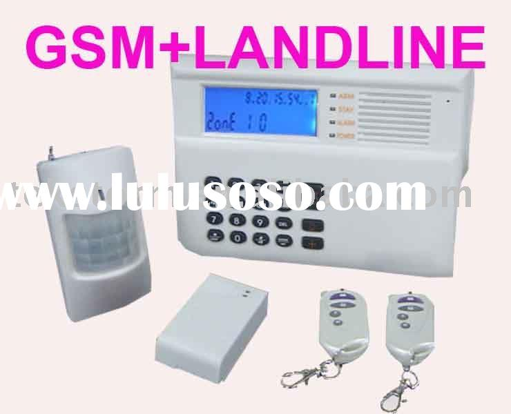 GSM and landline Auto Switch Home Security Alarm System