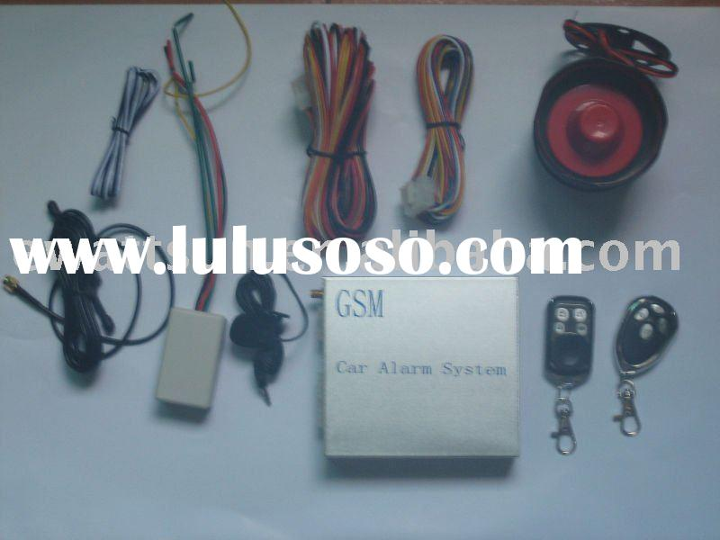 GSM car alarm system adding wireless oil-breaker