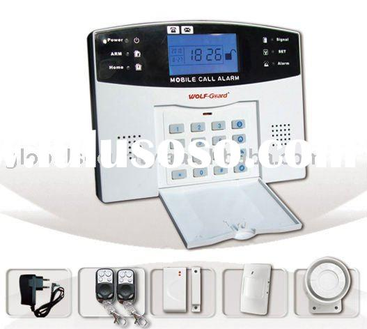 GSM wireless home alarm system with color LCD screen