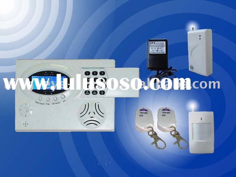 Intelligent apartment alarm system with LCD display