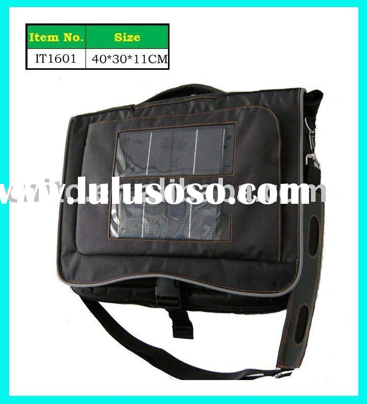 Laptop Solar Energy Products Briefcase Shoulder Bag for charging mobile phone