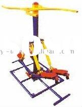Outdoor exercise equipment -double stepping device
