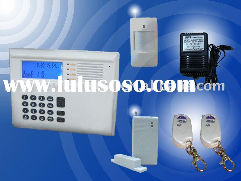 PSTN+GSM network security alarm system