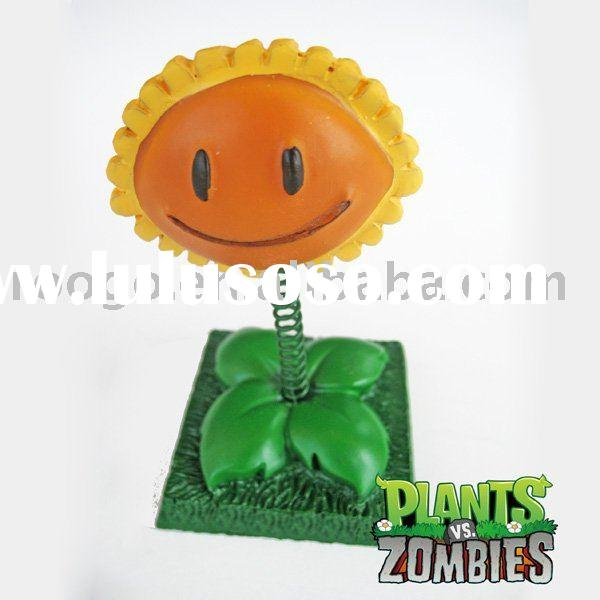 Plants vs zombies polyresin sunflower figurine home decoration