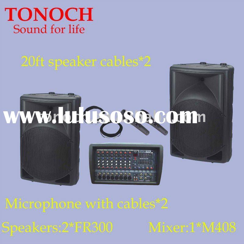 Portable combo PA speaker system in outdoor