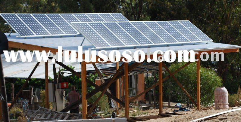 Roof mounted pv panel , solar power grid system, solar pv modules