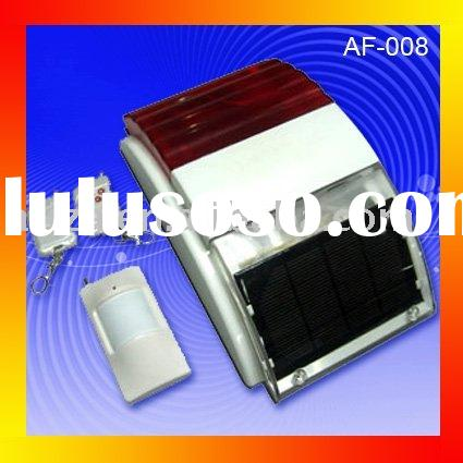 Solar panel power supply home security alarm system (AF-008)