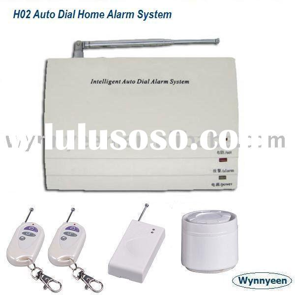Telephone Line Cut Alarm System, Rechargeable Backup Battery Home Alarm