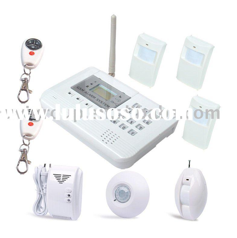 Two-way Voice Communication Wireless GSM Home Security Alarm System with 2 Outputs