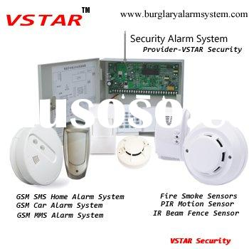 Wireless Security Alarm Systems support 16 hardwired zones