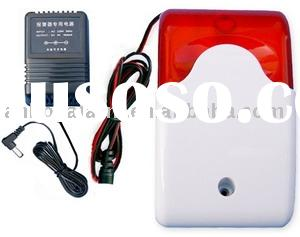 Wireless burglar alarm with strobe light