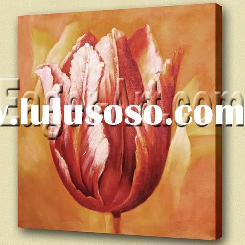 100% Handmade Tulip painting for home decoration