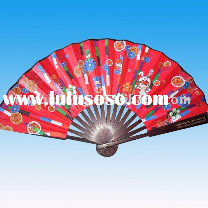 Bamboo Hand Fan For Flowers and Plants Exhibition