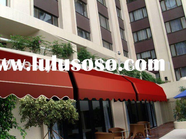Electric outdoor awning