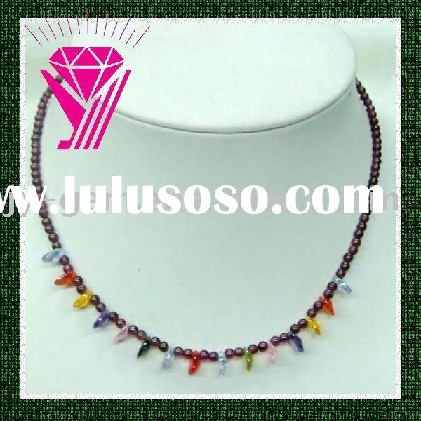 garnet & zircon necklace good for health