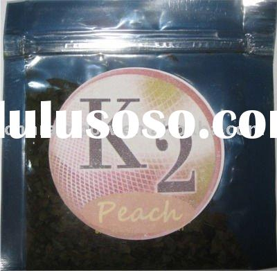 peach printing herbal incense bag with ziplock