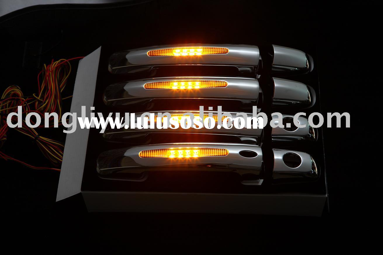 Car accessory door handle cover with LED