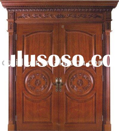 Carved Solid Wood Main Door Design DJ-S8121