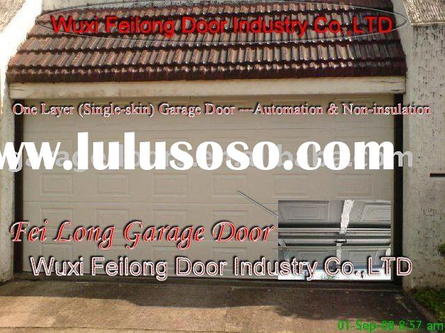 One Layer Steel Garage Door (Remote Control)--- Non Insulation & Sectional