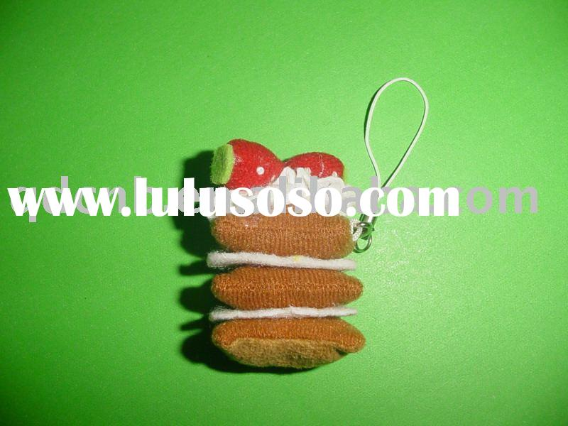 Screen Cleaner Mini Plush Mobile Screen Cleaner Cake Mobile Strap String Keychain Key Chain Toy