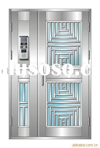 Security stainless steel door