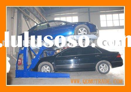 Two post tiltting mechanical hydraulic car parking lift system 2 floors (angled space saver)
