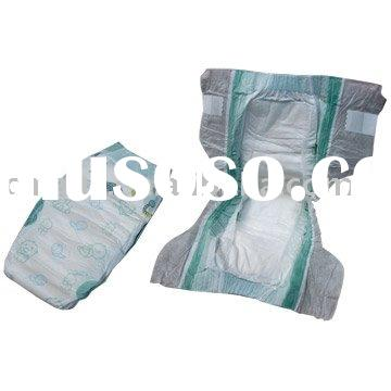 baby diapers with velvet  magic tapes and breathable film