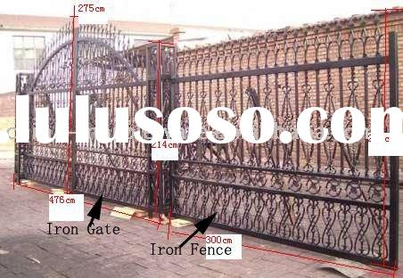 cast iron gate with fence