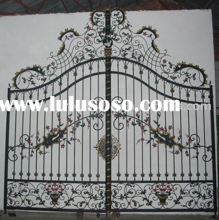 iron gate with plum blossom