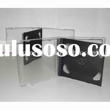 10mm jewel double cd case with black tray